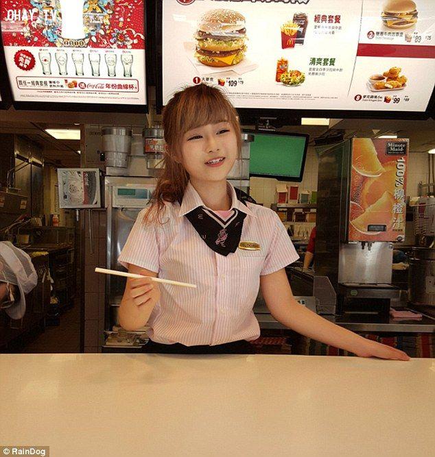 ảnh Wei Han Xu,nhân viên mc donald,hot girl