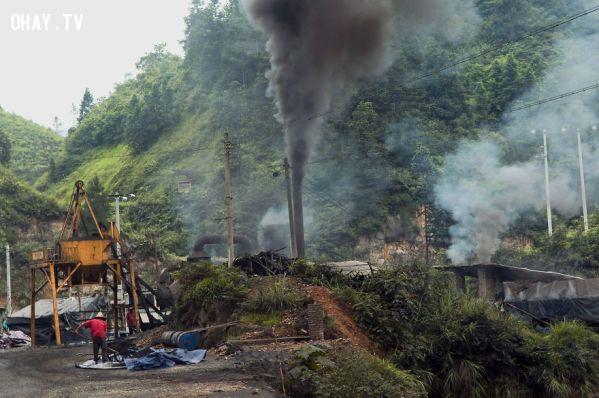 ảnh ô nhiễm,Môi trường,ô nhiễm môi trường,Trung quốc,rác thải,khí thải,ô nhiễm không khí