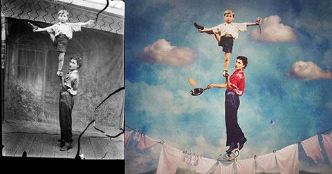 Những hình ảnh siêu thực được tái chế từ ảnh cũ một cách hoàn hảo