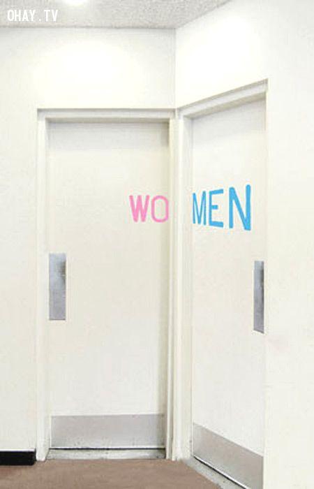 ảnh biển hiệu toilet,toilet