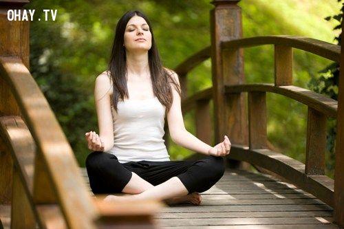 ảnh tập hít thở,hít thở,thở bụng,cách thở bụng,thở bụng đúng cách