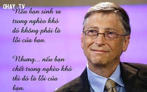 ảnh Bill Gates,suy ngẫm,triết lý của cuộc sống