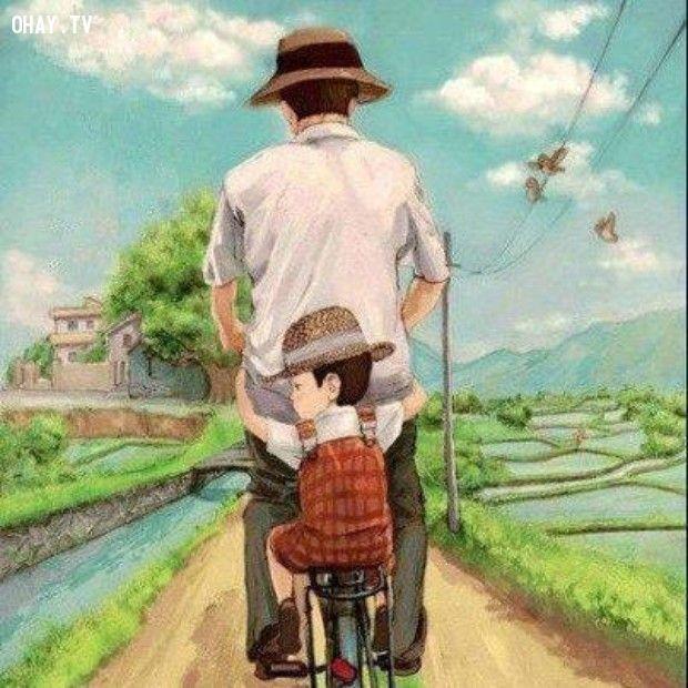 ảnh cha dạy con,bài học cha dạy con,bài học từ người cha,bài học cha dạy