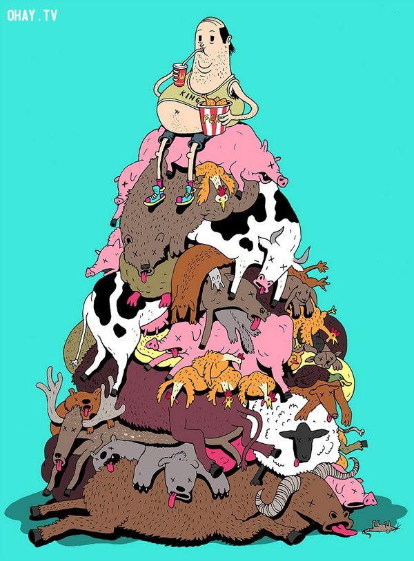 Chúng ta giết hết động vật xung quanh mình để nuôi chính chúng ta