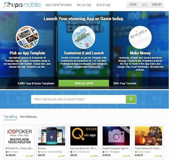 Bán ứng dụng trên Chupamobile.com