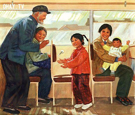ảnh nhường chỗ,đi tàu giường nằm,người già,tàu hỏa,đường sắt việt nam