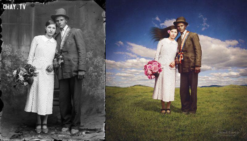 ảnh ảnh siêu thực,ảnh cũ,tái chế ảnh cũ