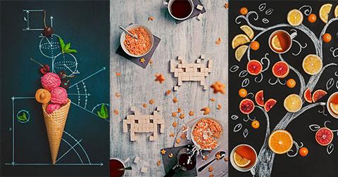 Thú vị với những bức ảnh sáng tạo chụp từ cà phê và thức ăn