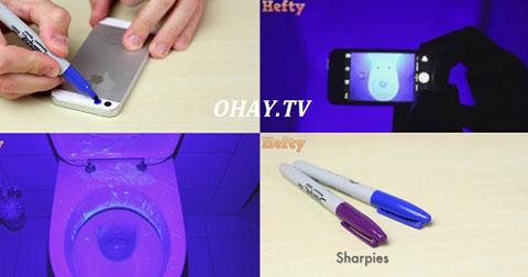 Cách kiểm tra bồn cầu có bao nhiêu vi khuẩn bằng điện thoại và bút màu