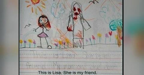 8 bức vẽ của trẻ con sẽ khiến bạn sợ hãi