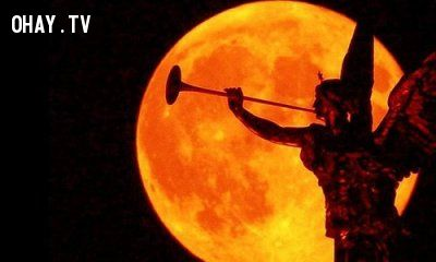 ảnh siêu trăng,trăng máu,nguyệt thực,lời tiên tri trăng máu,ngày tận thế