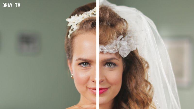ảnh kiểu tóc cô dâu,cô dâu,kiểu tóc,kết hôn,lễ thành hôn,làm tóc cô dâu