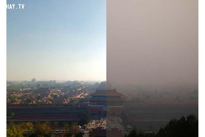 ảnh trung quốc,bắc kinh,ô nhiễm không khí,ô nhiễm môi trường