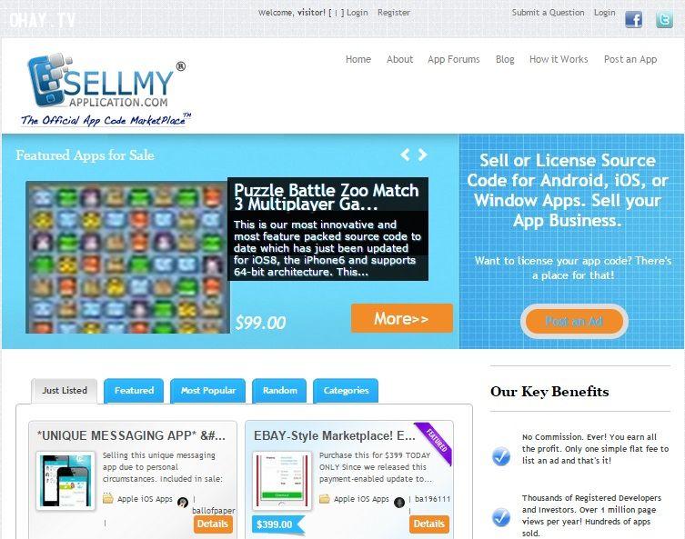 Bán ứng dụng trên sellmyapplication.com