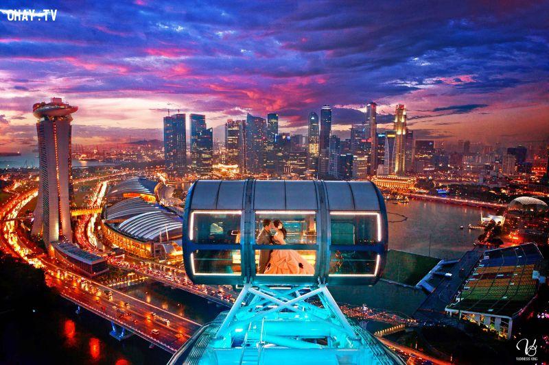 Bạn có thể nhìn sang Malasia hay Indonexia cảnh hoàng hôn