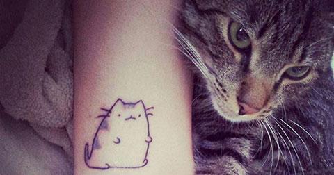 100+ mẫu hình xăm mèo cực kỳ đáng yêu dành cho phái nữ - P1