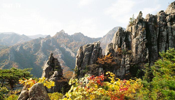 ảnh Hàn Quốc,mùa thu hàn quốc,ngọn núi đẹp,núi đẹp ở hàn quốc,du lịch hàn quốc