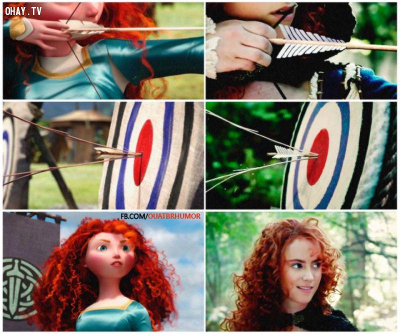ảnh OUAT,Once Upon A Time,Emma Swan,công chúa tóc xù,Merida,Vua Author,promo,Merlin