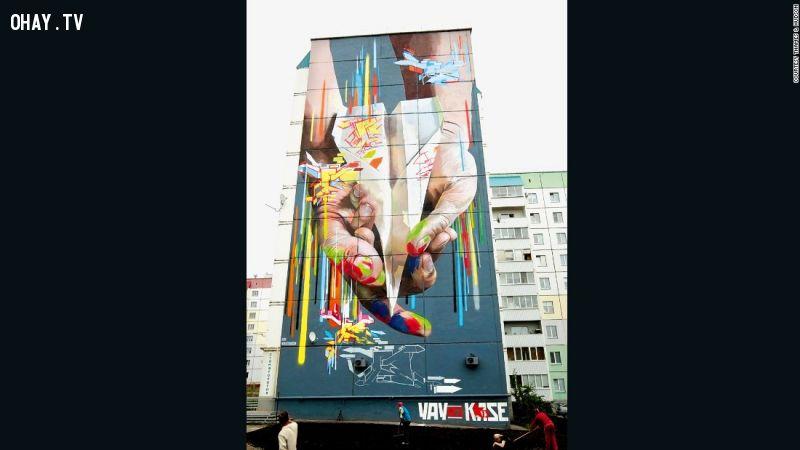 ảnh họa sĩ,vẽ tranh tường,tranh vẽ