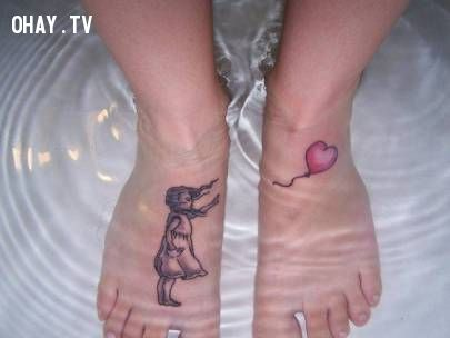 ảnh hình xăm,hình xăm ở chân,hình xăm chân