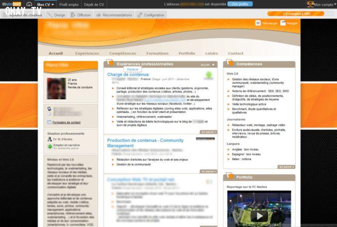 ảnh 7 trang web hay,CV đẹp,CV ấn tượng,web hay,web tạo cv