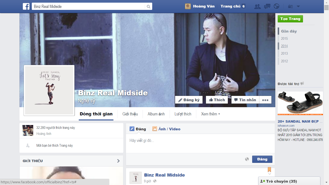 Fanpage của Binz