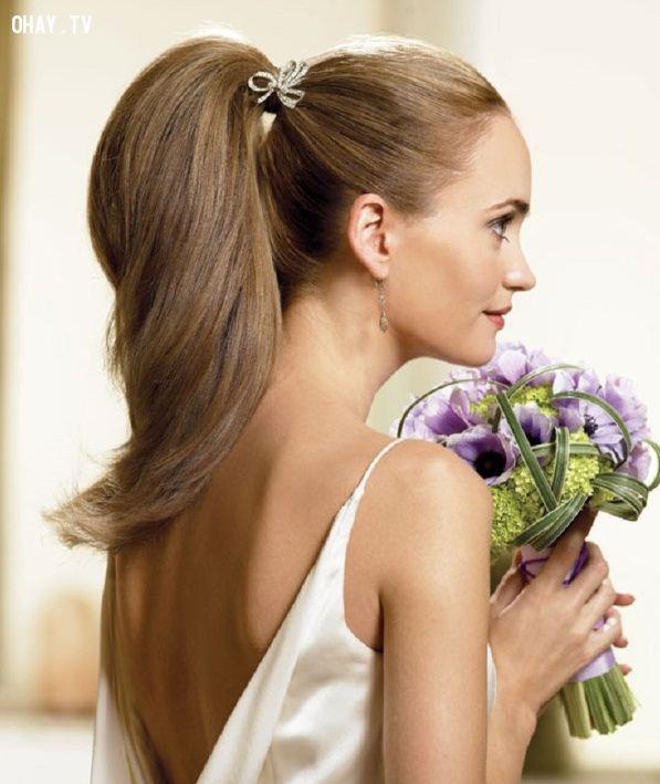 ảnh cột tóc,ngày cưới