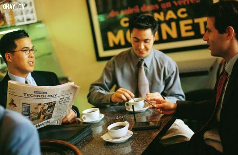 ảnh uống cafe,thành công hơn,cà phê