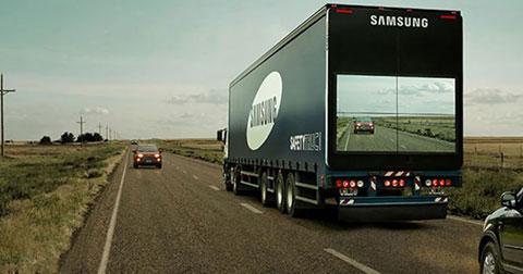"""Ý tưởng """"màn hình thông suốt"""" dành cho xe tải của Samsung"""