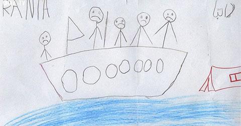 Trẻ em Syria - một bức tranh giá trị hơn ngàn lời nói.