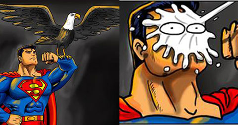 """Cười \""""RỤNG RỐN\"""" với bộ ảnh chế SIÊU BỰA về các siêu nhân!"""