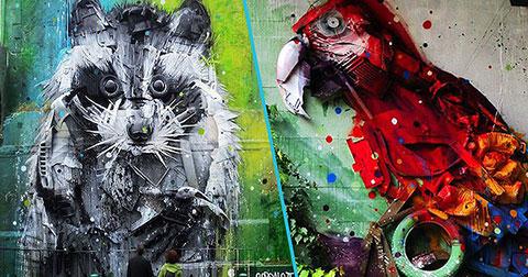 15 tác phẩm nghệ thuật độc đáo làm từ rác.