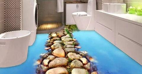 Những kiểu sàn nhà 3D khiến bạn như lạc vào chốn thiên nhiên