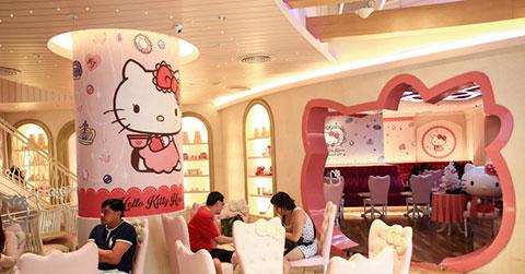 """Những quán cà phê dành cho các tín đồ \""""Hello Kitty\"""""""