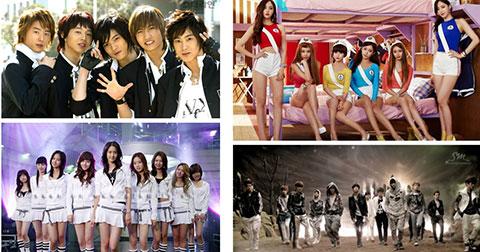 Điểm danh 10 nhóm nhạc có công đầu tạo nên làn sóng Kpop.