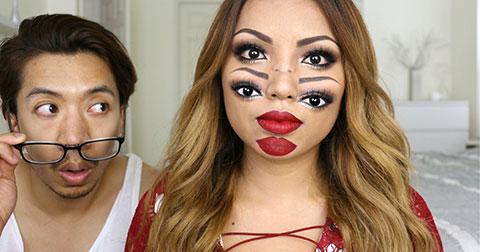 Hoa mắt với phong cách trang điểm hai mặt kì dị - Một gợi ý thú vị cho bạn mùa Halloween này