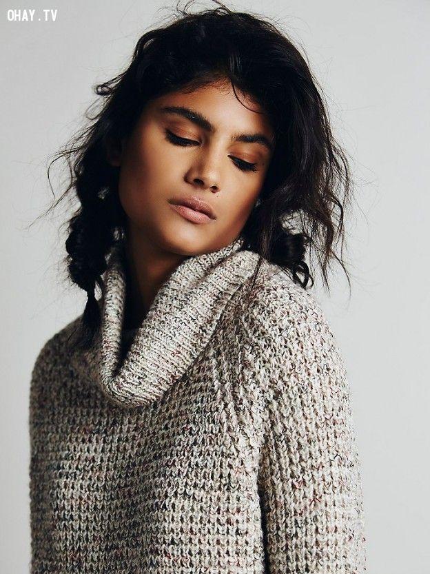 áo len oversize sẽ vô cùng dễ chịu và thoải mái cho người mặc
