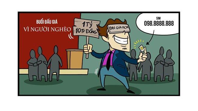 Chiếc sim được cho là đẹp nhất Việt Nam 098.888.8888 lần đầu tiên được đưa ra đấu giá để ủng hộ Quỹ vì người nghèo năm 2004. Đêm đấu giá diễn ra suôn sẻ khi một vị doanh nhân TP HCM đã trả giá cao nhất cho chiếc sim với giá 1 tỷ 10 triệu đồng khiến người xem truyền hình đã xúc động trước nghĩa cử cao đẹp.