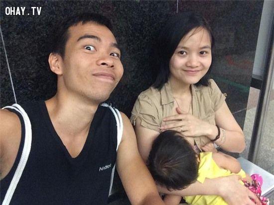 ảnh ủng hộ Ốc Thanh Vân,khoe ảnh cho con bú,cho con bú,nuôi con bằng sữa mẹ