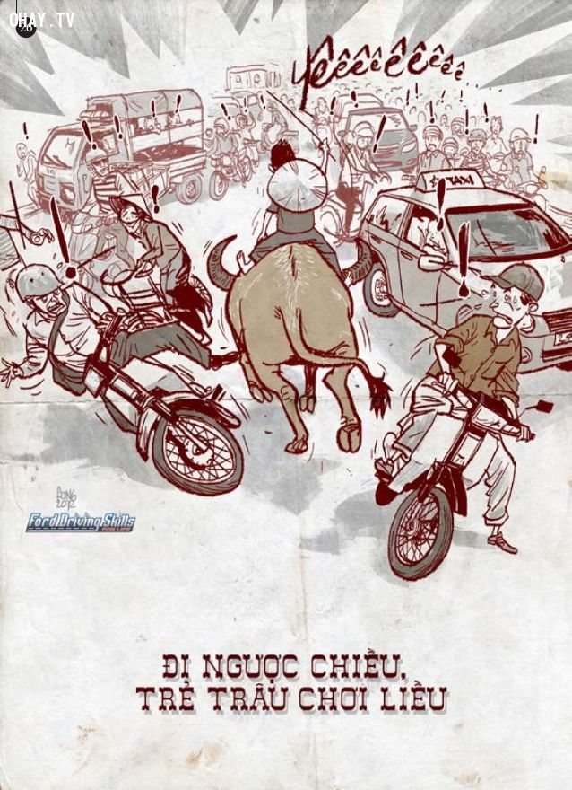 ảnh tranh biếm họa,tranh biếm họa giao thông,giao thông,ý thức giao thông,biếm họa