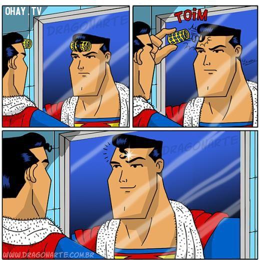 Bí quyết cho tóc đẹp của siêu nhân