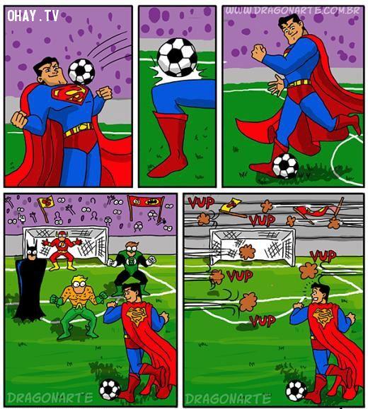 Khi superman là cầu thủ bóng đá