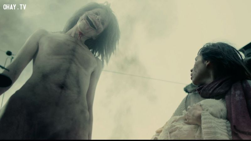 ảnh Attack on titan,live action,Miura Haruma,Kiko Mizuhara,G-dragon,Big Bang,anime,live action,manga,movie,review phim