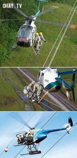 Nghề sửa đường dây diện ở trên không