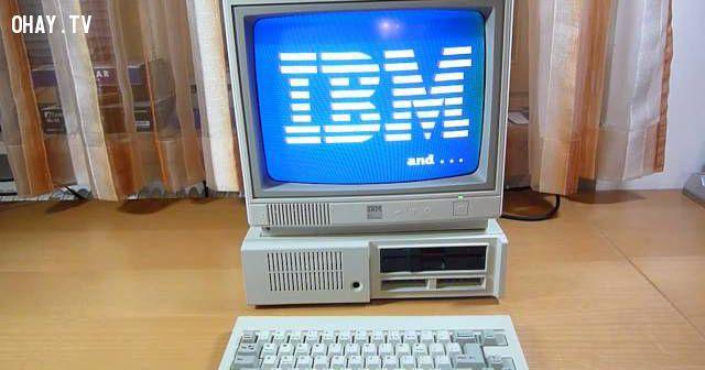 ảnh IBM PCjr,IBM PC junior,máy tính thập niên 80,thập niên 80