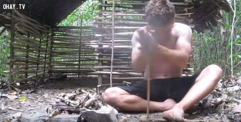 ảnh kỹ năng sinh tồn,đi rừng,sống một mình trong rừng,lạc trong rừng