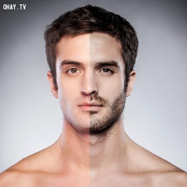 So sánh khi không để râu