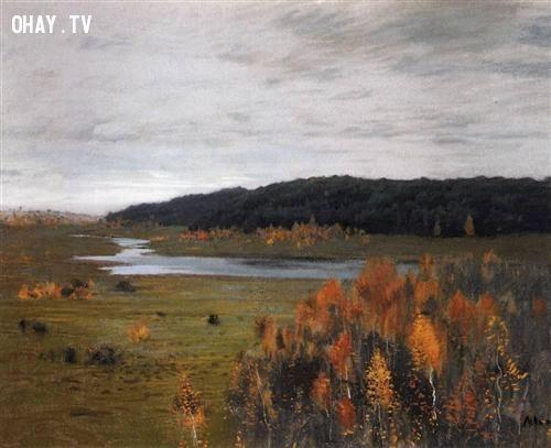 Mùa thu. Thung lũng sông.