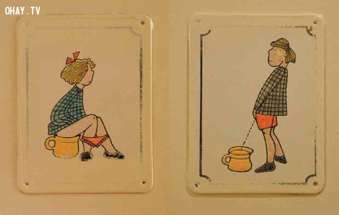 ảnh biển báo toilet,toilet