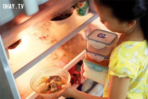 Thói quen, tủ lạnh, dùng tủ lạnh không đúng cách, đầu độc sức khỏe, mẹo, ăn uống